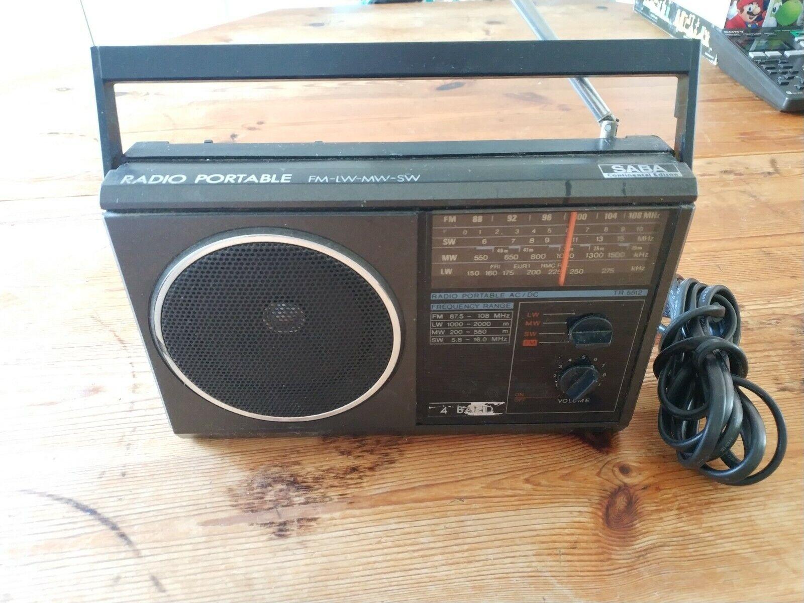 Radio Portable Multibande 4 bandes Saba FM-LW-MW-SW