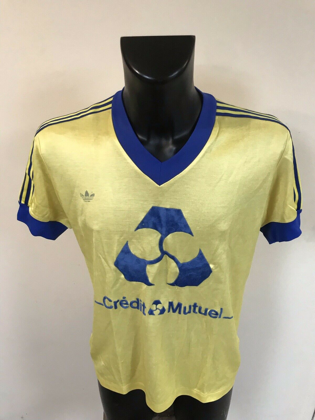 Maillot Foot Ancien Credit Mutuel Numero 6 Taille 4/5