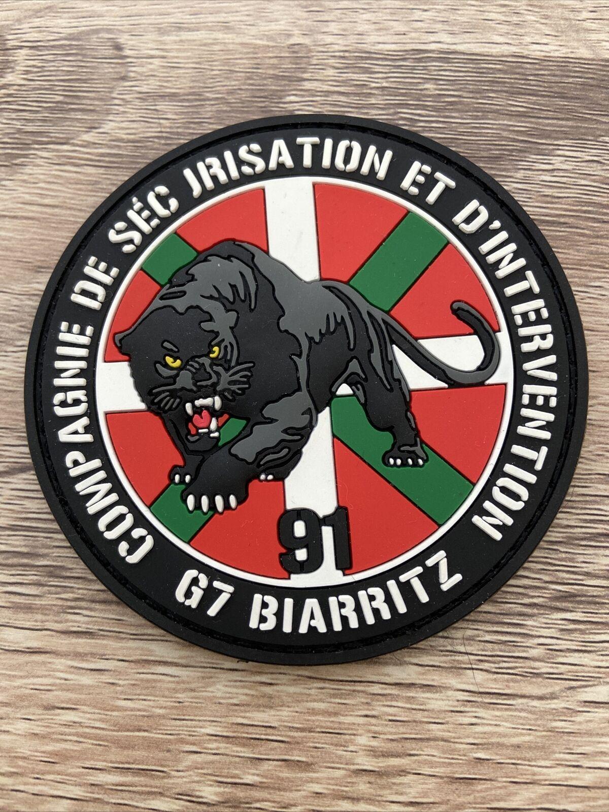 Ecusson Police Nationale - CSI 91 - G7 Biarritz 2019