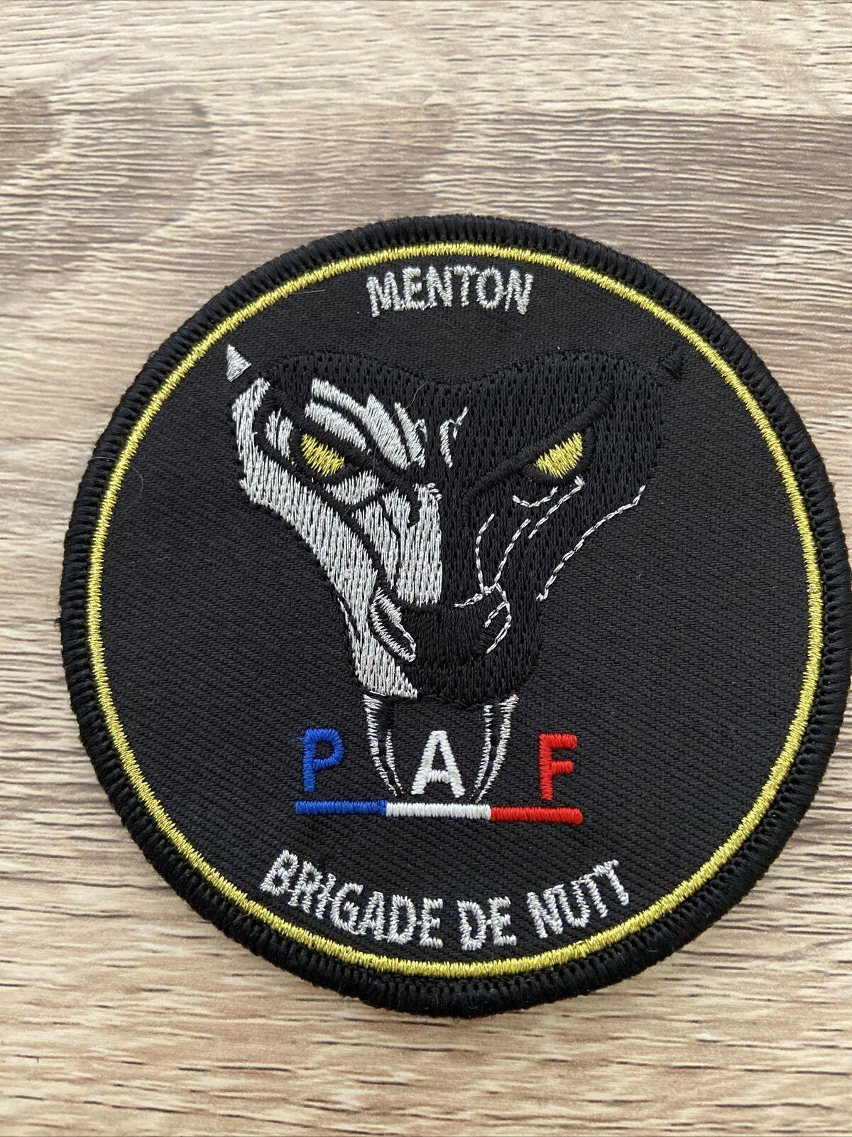 Ecusson Police Nationale - PAF Menton Brigade Nuit