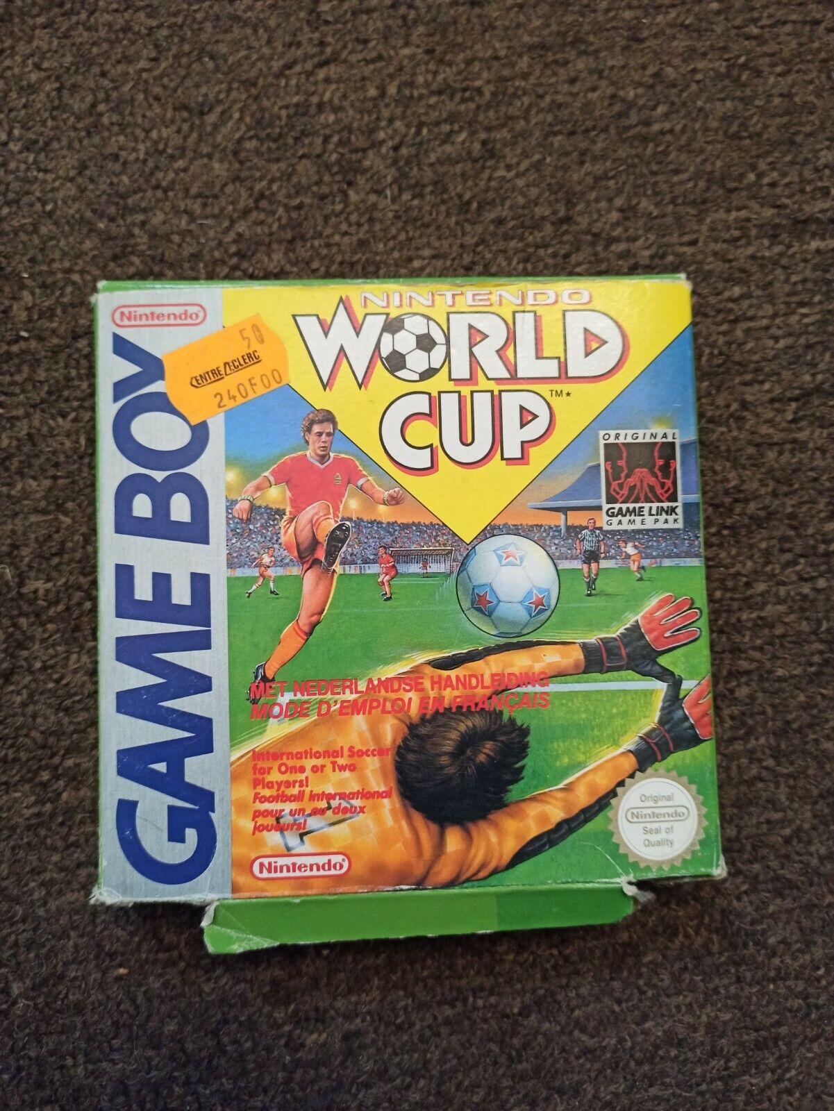 Jeu Nintendo Game Boy world cup foot avec boîte