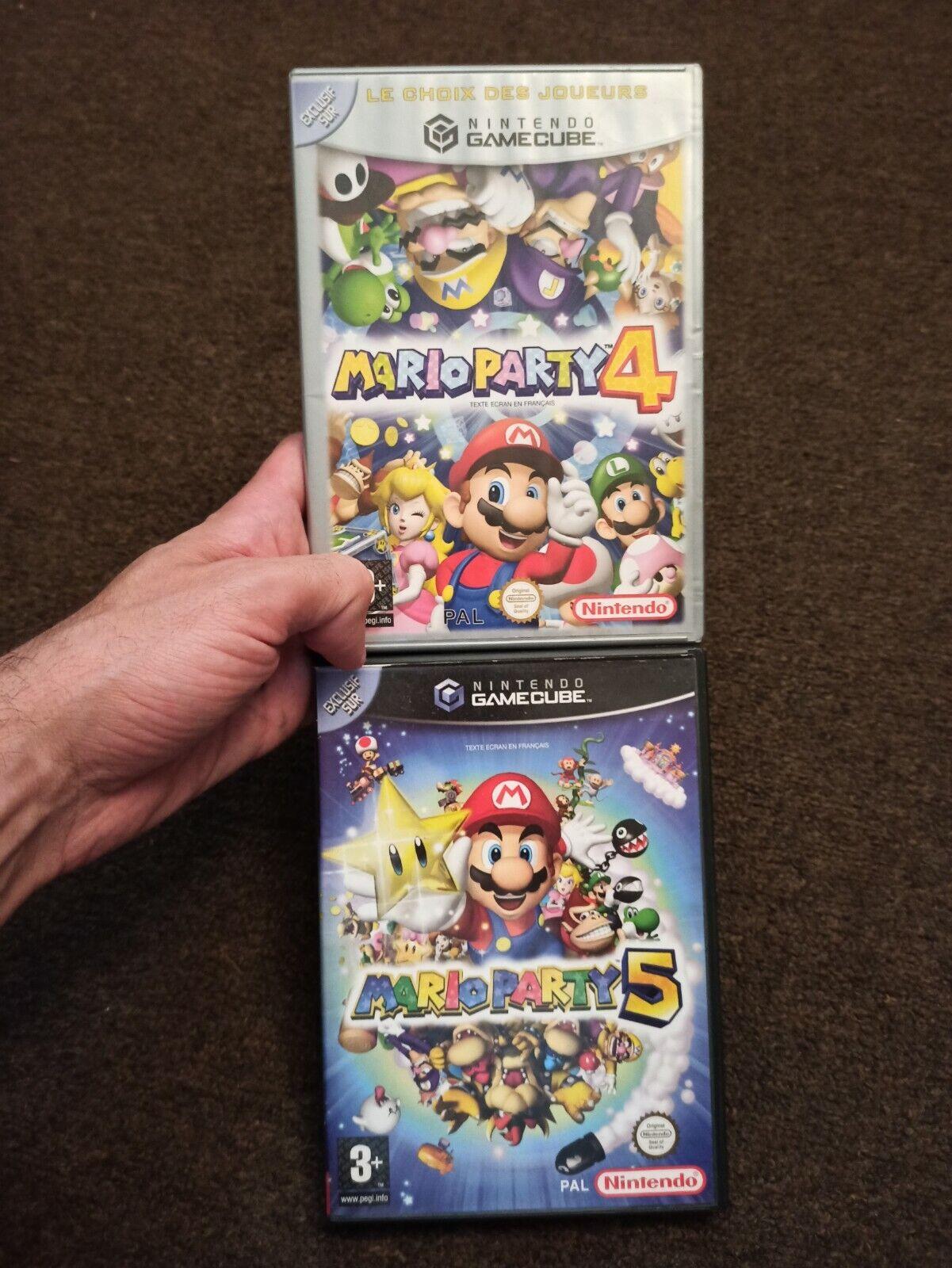 Lot Jeux Nintendo Mario party 4 et 5 GameCube