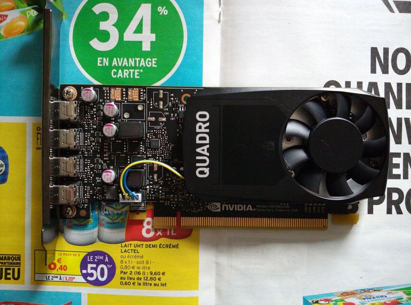 PNY Quadro P1000 4Go GDDR5 Carte Graphique (VCQP1000V2-PB)