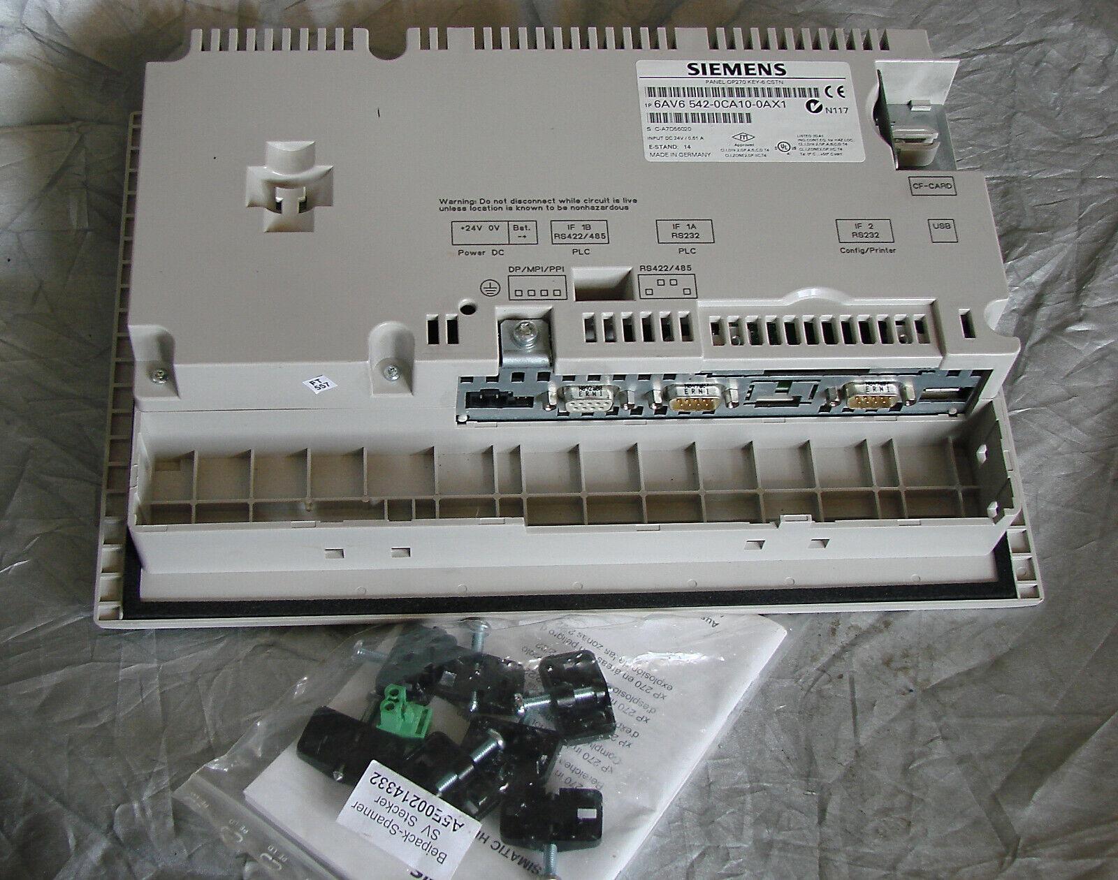 SIMENS - SIMATIC OP 270 6' pupitre opérateur écran couleur: 6AV6542-0CA10-0AX1