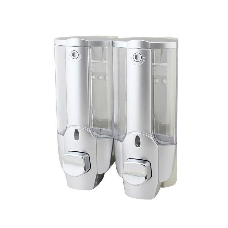 Double Distributeur de Savon, Gel de douche, Shampooing 2x350 ml avec serrure