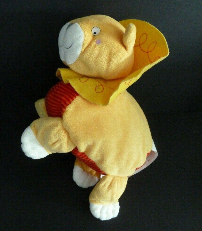 R6- DOUDOU PELUCHE IKEA LION barnslig lejon JAUNE ORANGE ROUGE 20/21 CM  - TTBE