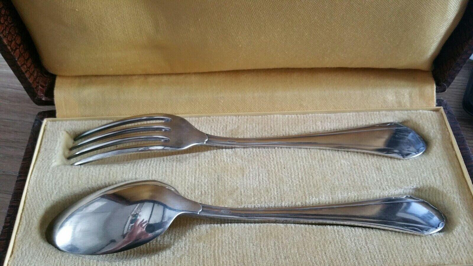 SFAM cuillère et fourchette dans leur écrin