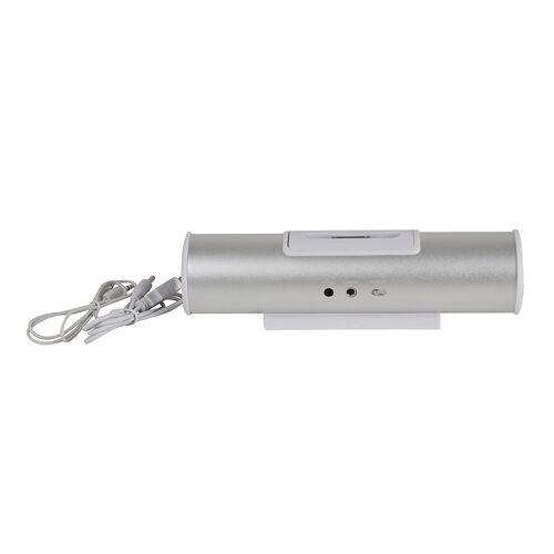 haut-parleur tube music angel argenté blanc Iphone 3/4 ipod