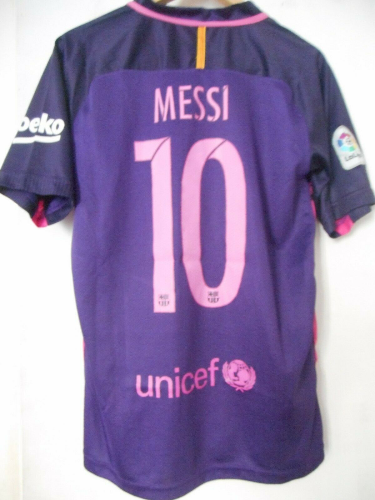 MAILLOT FOOT - F.C BARCELONE - NIKE - TAILLE L - MESSI - 2016
