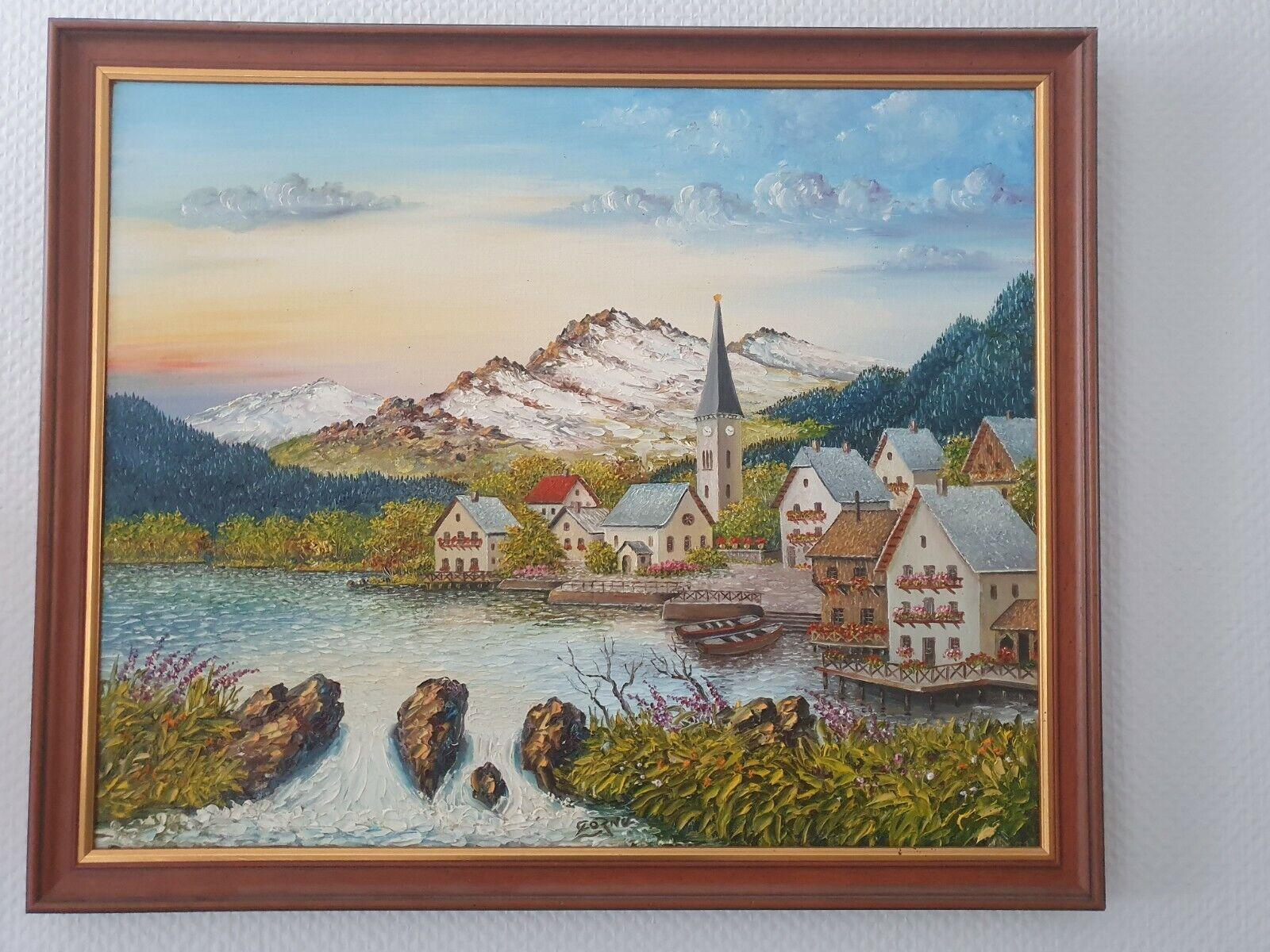 Tableau Peinture Huile LOUIS CORNU WASSIGNY AISNE