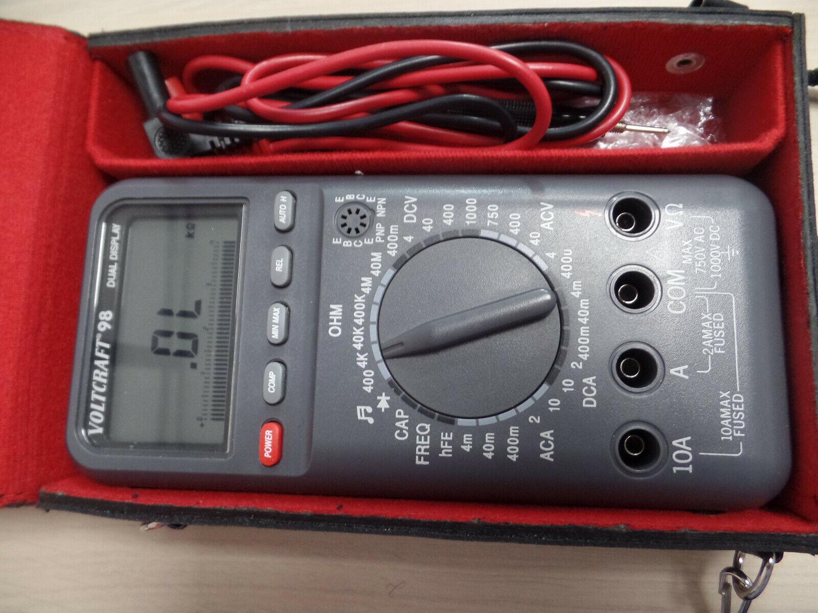 Multimetre de précision 750Volt de Voltcraft 98