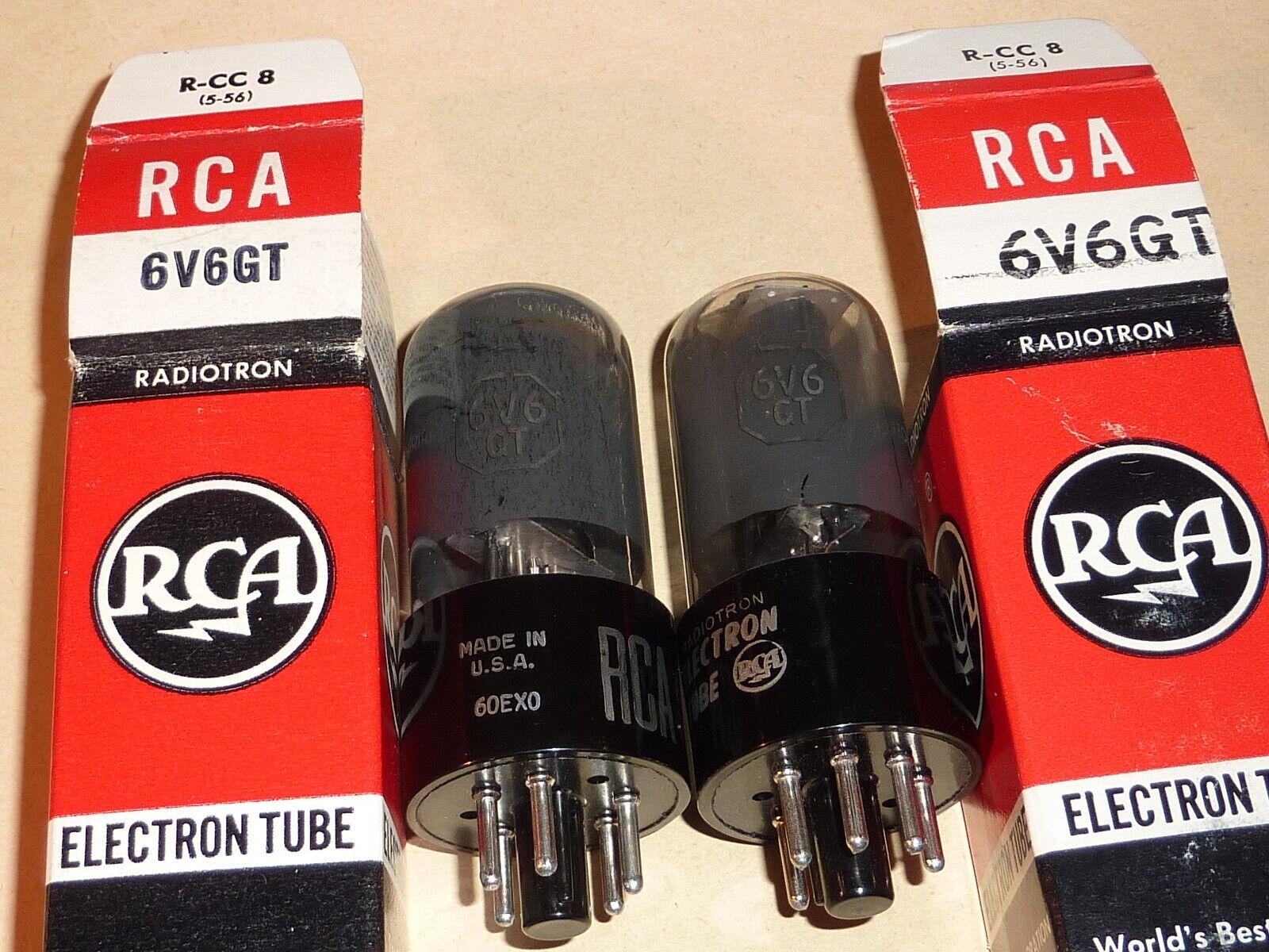 2 x RCA 6V6GT NOS NIB  1 x D-getter  1 x DD-getter / gut geprüft auf Funke W19S