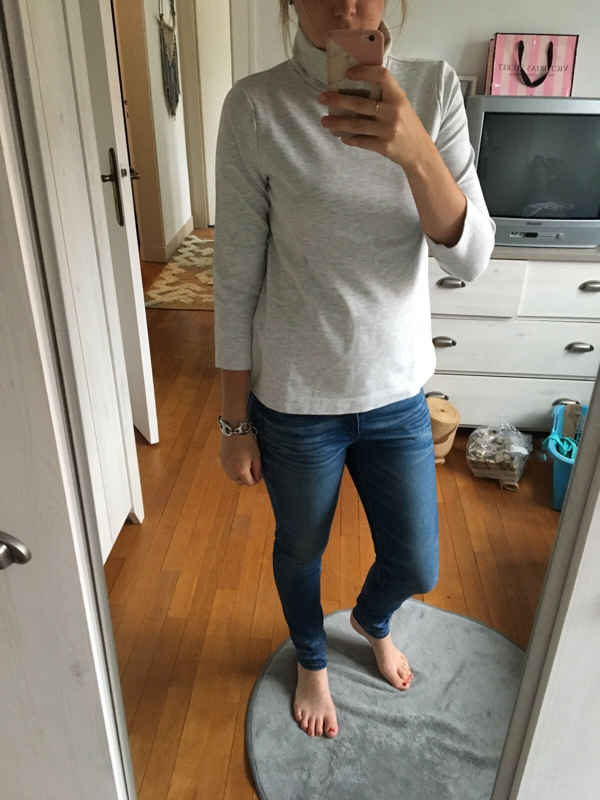 Tee Shirt Gris Femme Taille S