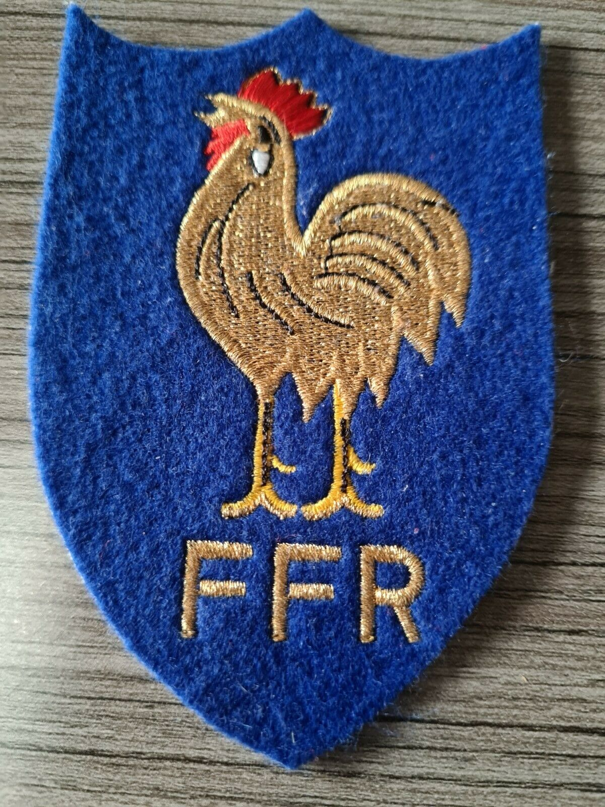 ECUSSON brodé EQUIPE FRANCE RUGBY embroidered blue BADGE 7,5cmx10,5cm