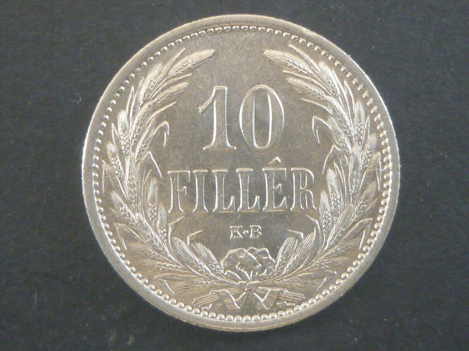 AUTRICHE-H0NGRIE 10 FILLER -1909- ARGENT SUP/XF