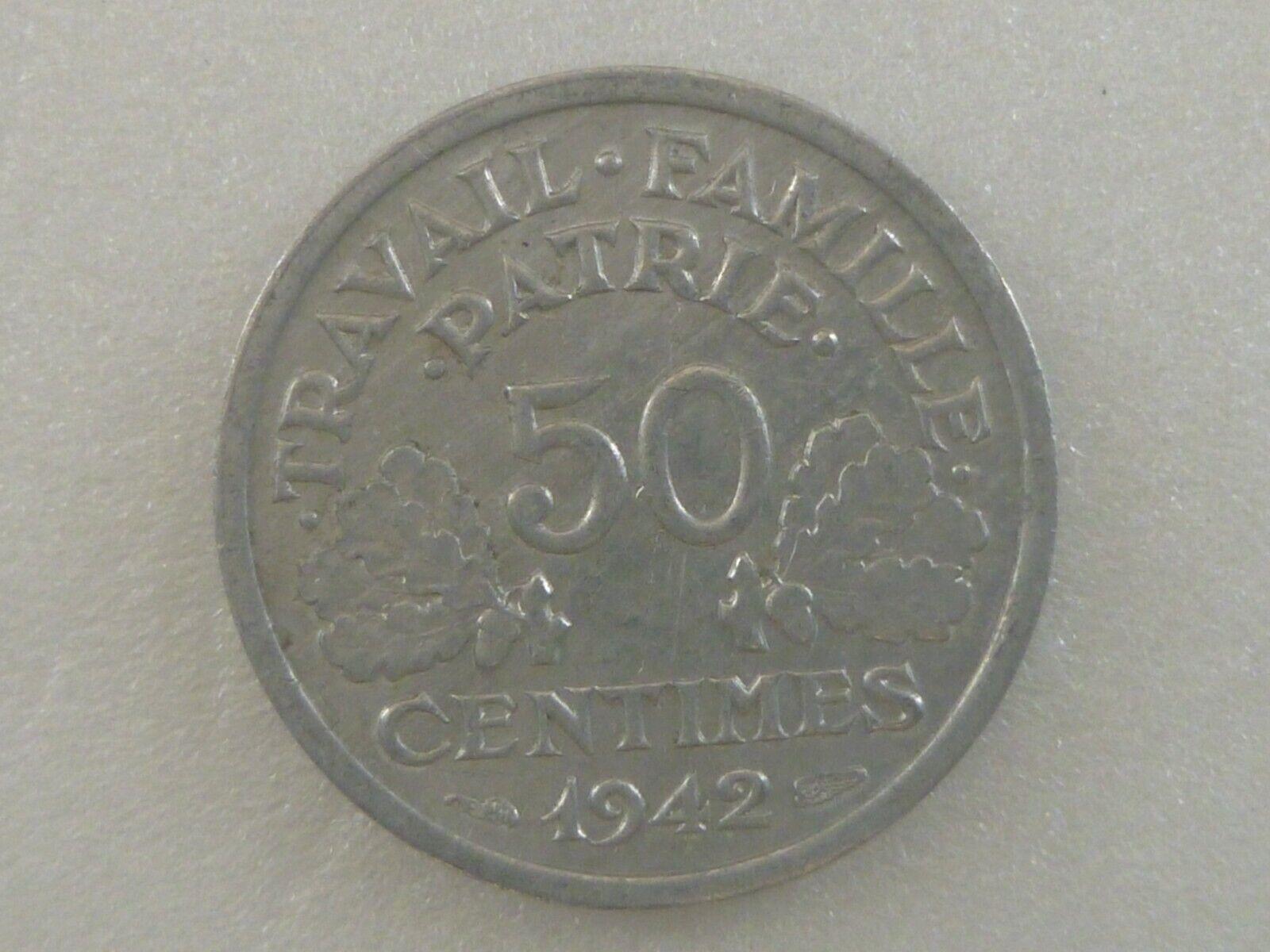 FRANCE 50 centimes -1942- aluminium FDC/UNC