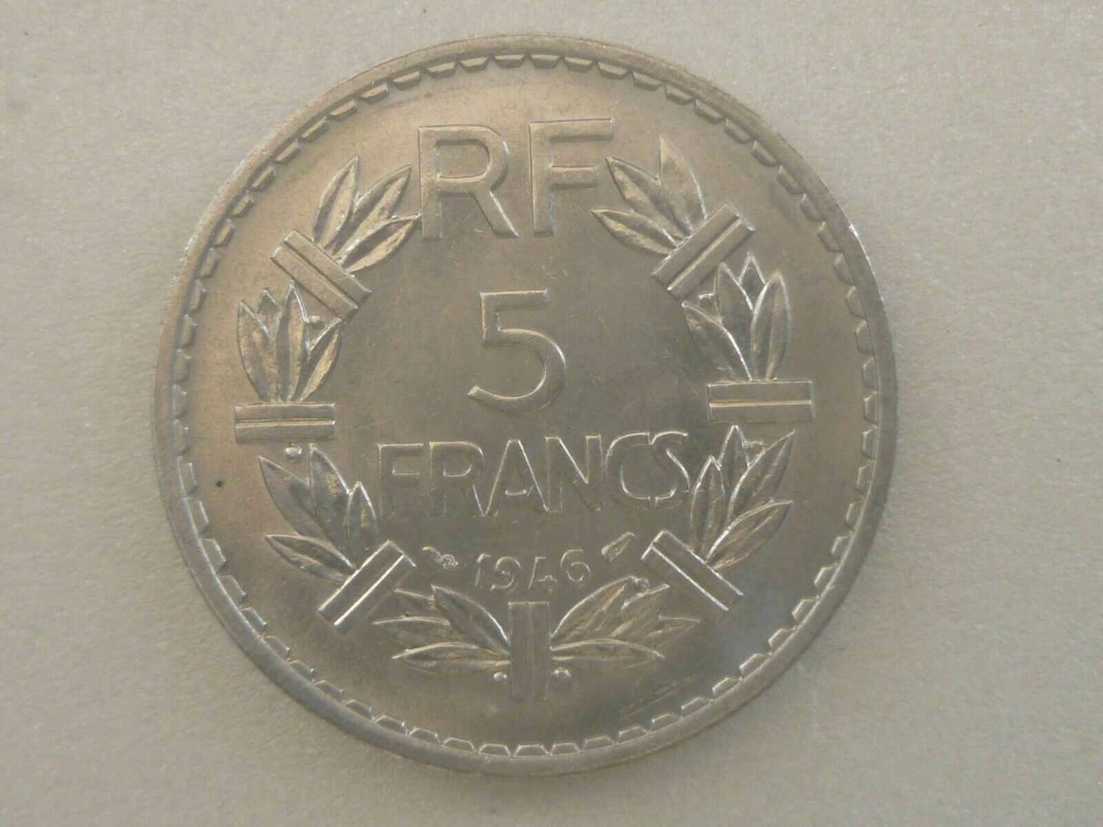 FRANCE : 5 FRANCS -1946 - ALUMINIUM-SPL/FDC XF/UNC
