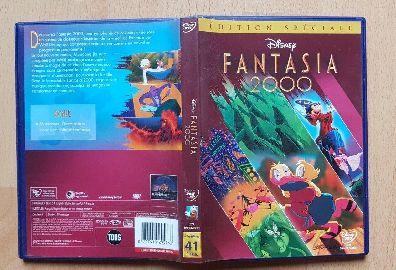 FANTASIA 2000 DVD ENFANT FAMILLE DISNEY MICKEY MAGIE MUSIQUE SORCIER COMEDIE