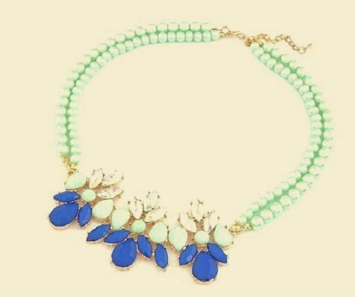 COLLIER CHOKER FANTAISIE PERLES SYNTHÉTIQUES - NEUF
