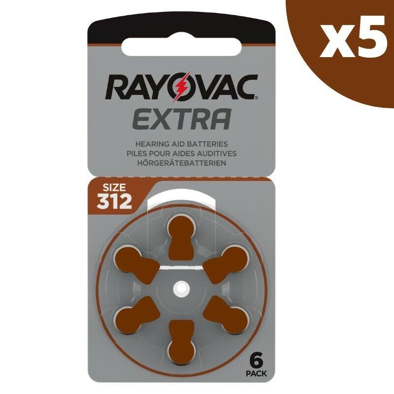 Hörgeräte-Batterien Rayovac 312, 5 Tafeln