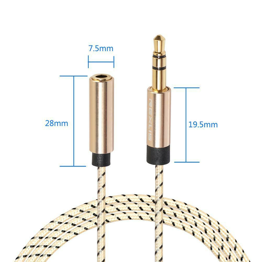 Headphone Extension Cable 3.5mm Male to Female Audio Extender Cord (1m)
