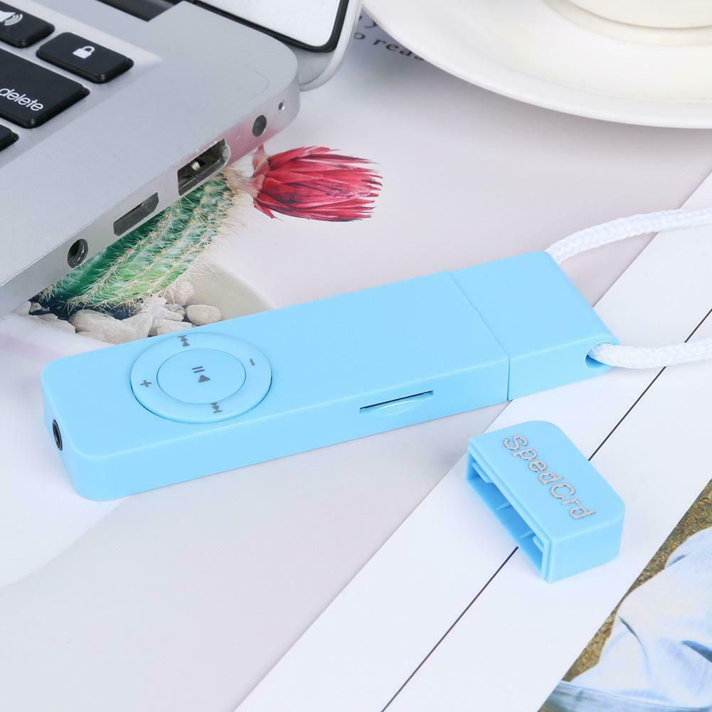 MP3 Player Strip Lossless Sound Support 64GB TF Card Media Players (Blue)