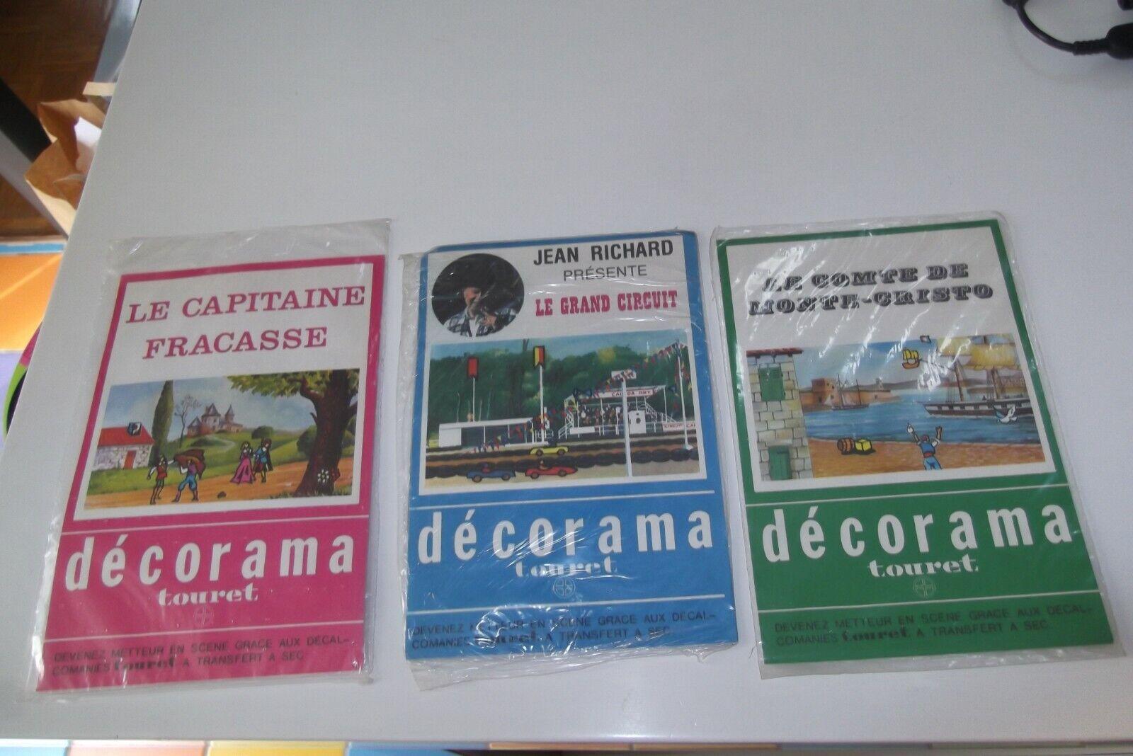 LOT DECORAMA TOURET DECALCOMANIES TRANSFERTS  VINTAGE