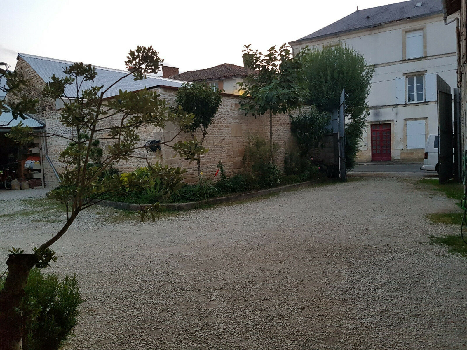 French village house project -Walled Garden & Workshop + River side camping  !