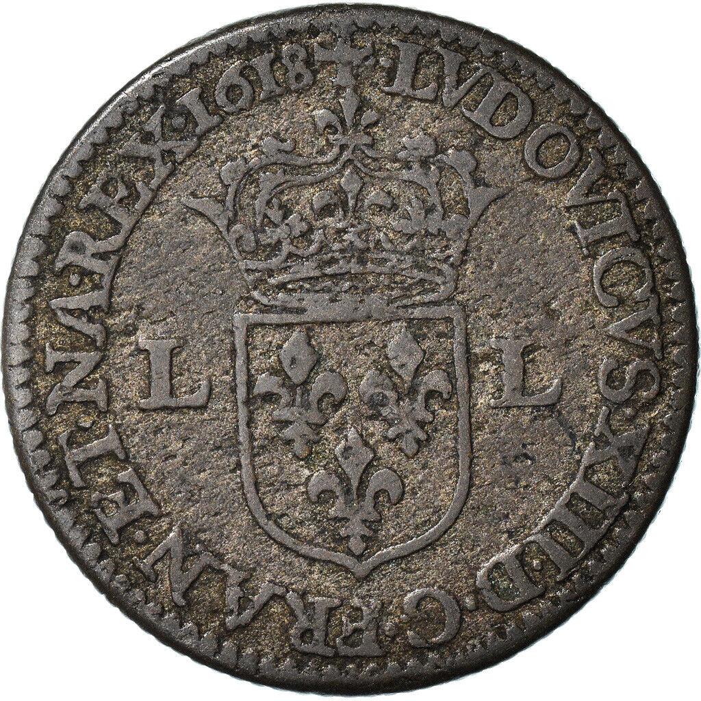 [#970891] Moneta, Francia, Louis XIII, Douzain, 1618, Paris, Quadruple piéfort,