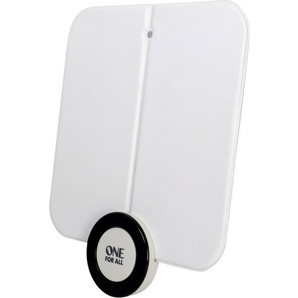 Antenne plate DVB-T/T2 active One For All SV 9215 intérieure 41 dB blanc