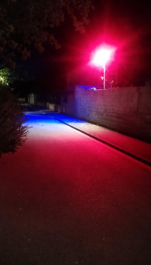 projecteur  éclairage public DEUX COULEURS ( bleu/blanc/rouge ) ET 3000°K