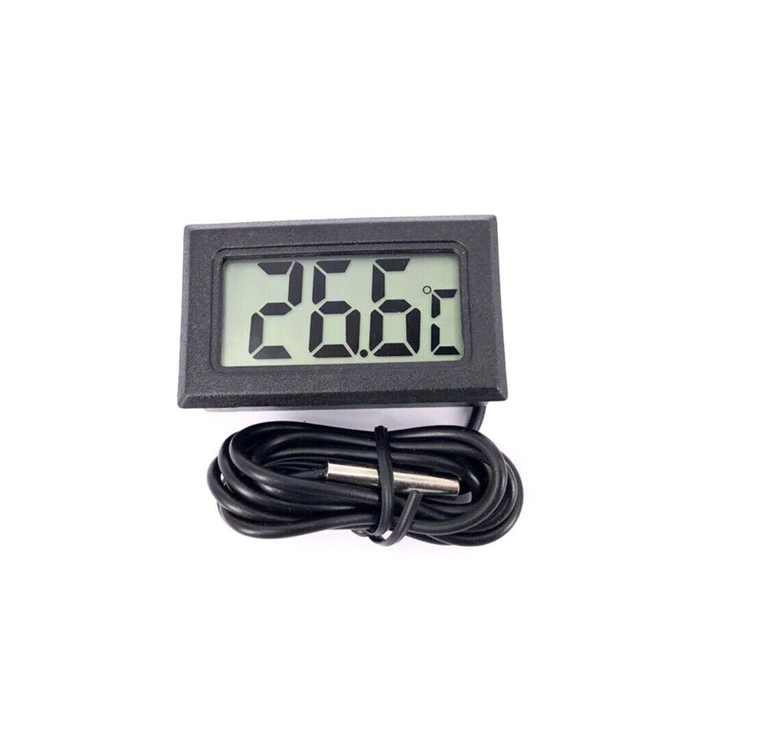 1 Thermomètre numérique LCD température -50 ~ 110 degrés noir + 2 piles LR44