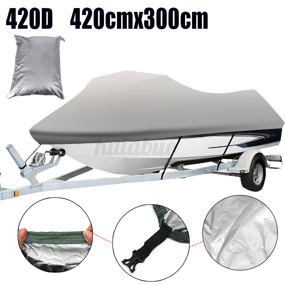 Gris 420D Housse Protecteur Jet Ski Imperméable pour Yamaha Seadoo Sea Doo GT