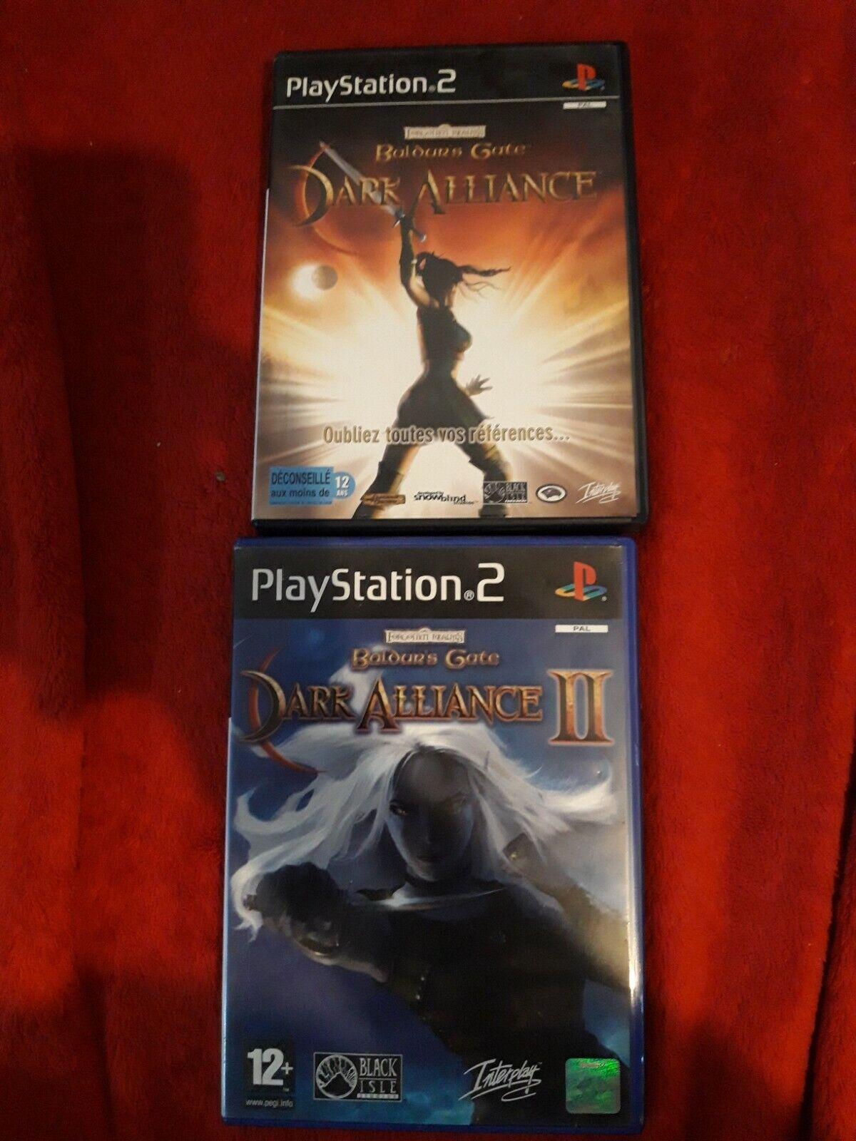 jeux ps2 Baldur's Gate :Dark Alliance I et II pal francais
