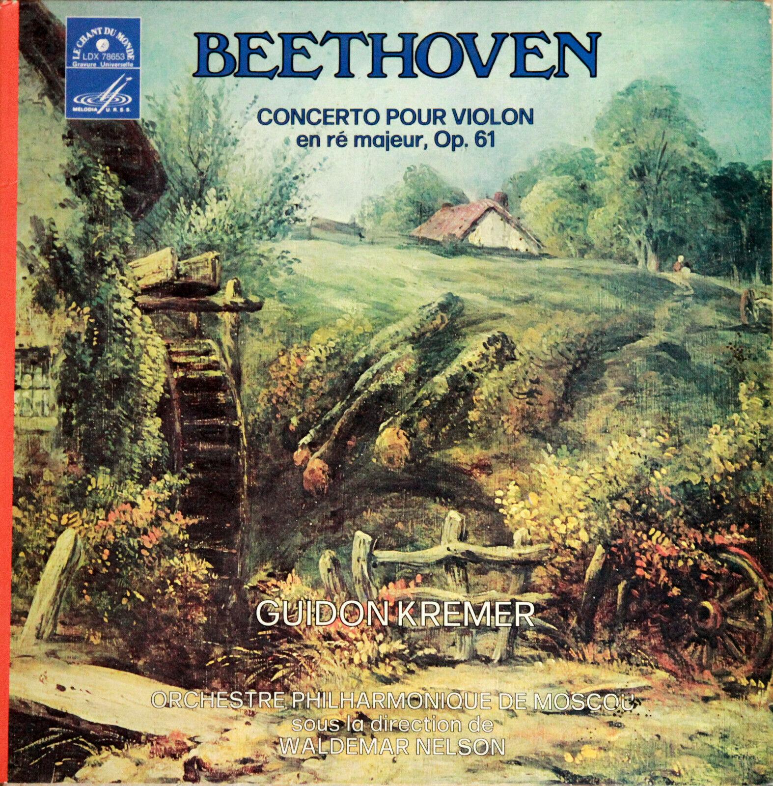 CDM Melodiya BEETHOVEN Violin Concerto GUIDON KREMER / NELSON Moscow Philhar NM+