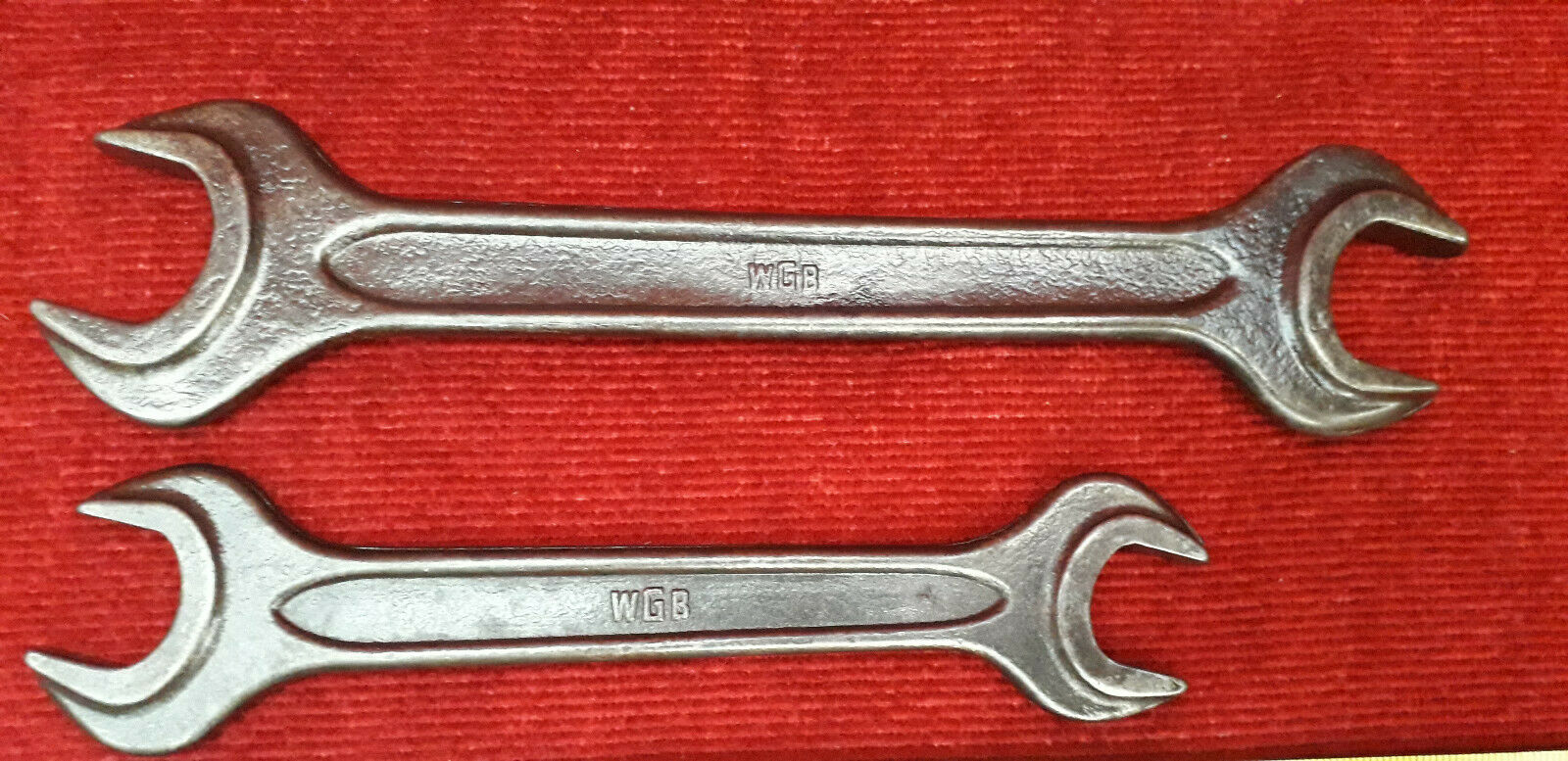 L10) LOT CLE PLATE - OUTIL ANCIEN - WGB,SACCA,Made in URSS - OUTILLAGE - GARAGE